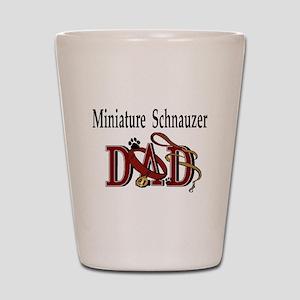Miniature Schnauzer Dad Shot Glass