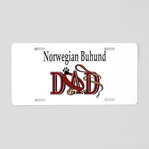 Norwegian Buhund Dad Aluminum License Plate