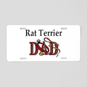 Rat Terrier Dad Aluminum License Plate
