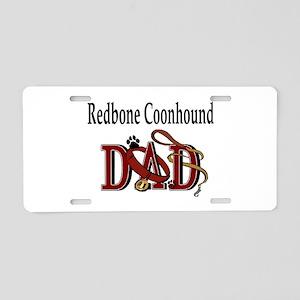 Redbone Coonhound Dad Aluminum License Plate