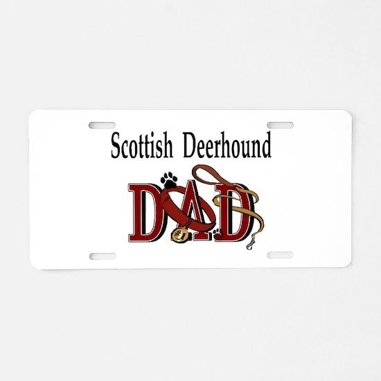 Scottish Deerhound Dad Aluminum License Plate