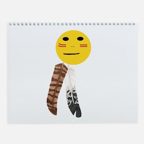 Indian Smiley Face Wall Calendar