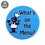 "What's on the Menu? 3.5"" Button (10 pack)"