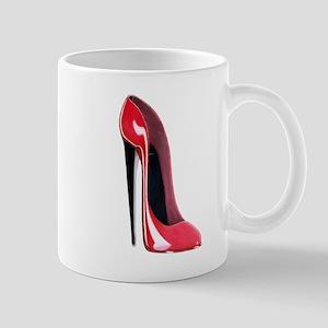 Black heel red stiletto shoe Mug