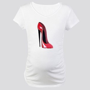 Black heel red stiletto shoe Maternity T-Shirt