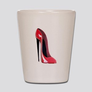 Black heel red stiletto shoe Shot Glass
