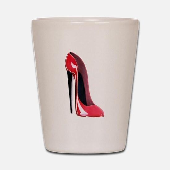 Black heel red stiletto shoe Shot Glass