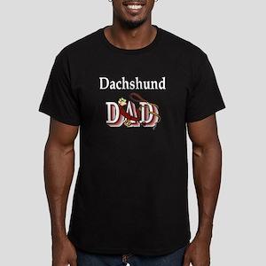 Dachshund Dad Men's Fitted T-Shirt (dark)