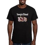 Norwegian Elkhound Men's Fitted T-Shirt (dark)