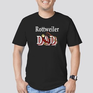 Rottweiler dad Men's Fitted T-Shirt (dark)