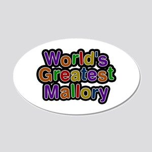 World's Greatest Mallory 20x12 Oval Wall Decal