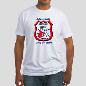 Merchant Marine Logo Fitted T-Shirt