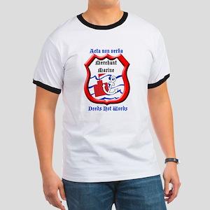 Merchant Marine Logo Ringer T