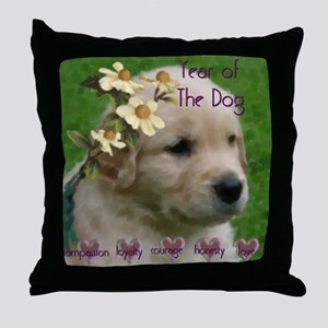 Year of the Dog 01 Throw Pillow