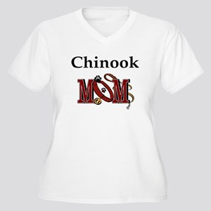 Chinook Mom Gifts Women's Plus Size V-Neck T-Shirt