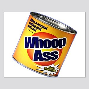 Funny Can Of Whoop Ass Small Poster