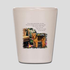 Welsh Terrier Art Shot Glass