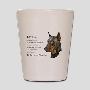 Doberman Pinscher Gifts Shot Glass