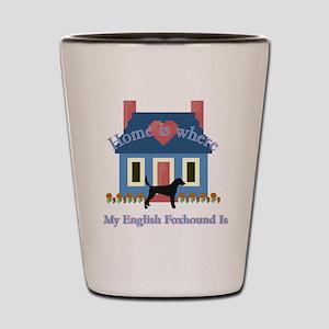 English Foxhound Home Shot Glass