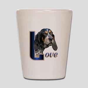 Bluetick Coonhound Love Shot Glass