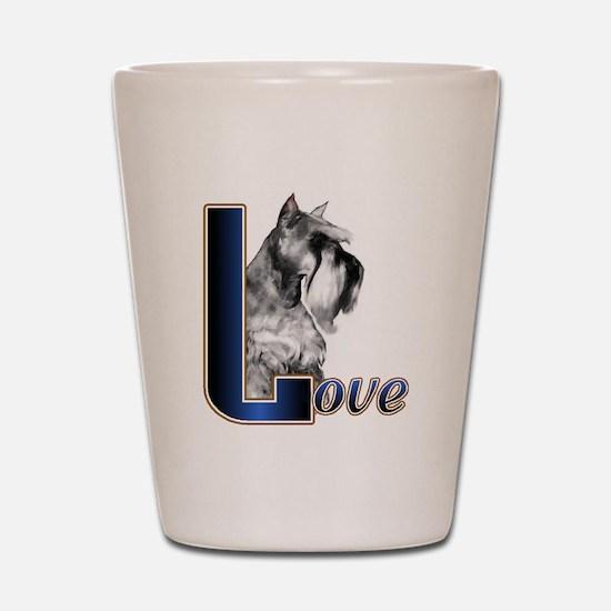 Miniature Schnauzer Love Shot Glass