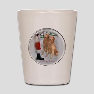 Golden Retriever Christmas Shot Glass