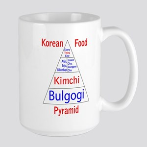 Korean Food Pyramid Large Mug