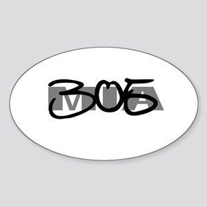 Miami 305 Oval Sticker