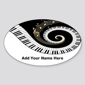 personalized mixed musical no Sticker (Oval)