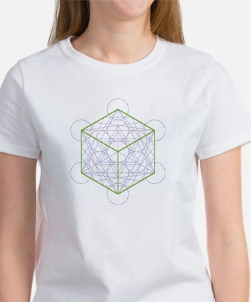 Women's T-shirt with cube