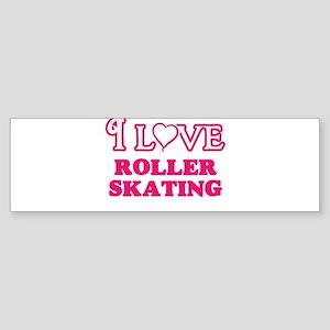 I Love Roller Skating Bumper Sticker