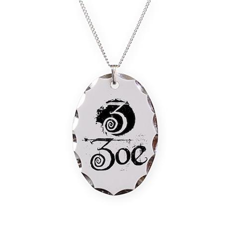 Zoe Grunge Necklace Oval Charm