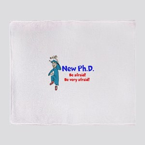 New Ph.D. Throw Blanket