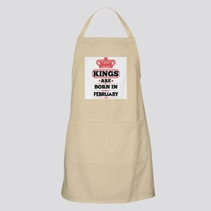 KINGS ARE BORN IN FEBRUARY Light Apron