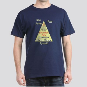 New Jersey Food Pyramid Dark T-Shirt