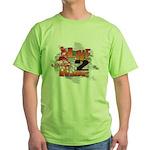 Live 2 Ride Sledder / Snowmobiler Green T-Shirt