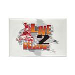 Live 2 Ride Sledder / Snowmobiler Rectangle Magnet