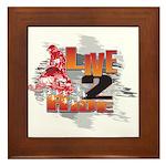Live 2 Ride Sledder / Snowmobiler Framed Tile