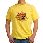 Live 2 Ride Sledder / Snowmobiler Yellow T-Shirt