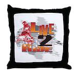 Live 2 Ride Sledder / Snowmobiler Throw Pillow