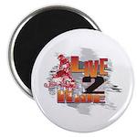 Live 2 Ride Sledder / Snowmobiler Magnet