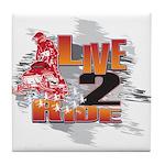 Live 2 Ride Sledder / Snowmobiler Tile Coaster
