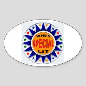 TOP SCORE Sticker (Oval)