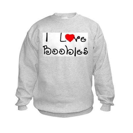 I Love Boobies Kids Sweatshirt