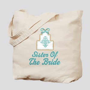 Sister of the Bride Wedding Cake Tote Bag