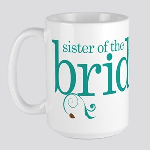 Sister of the Bride Swirl Large Mug