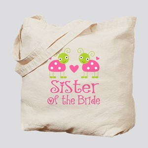 Sister of the Bride Ladybug Tote Bag