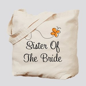 Sister of the Bride Orange Pretty Tote Bag