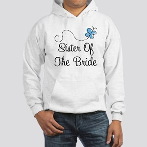 Sister of the Bride Blue Butterfly Hooded Sweatshi