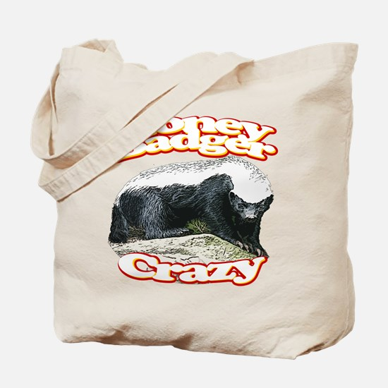 Honey Badger Crazy Tote Bag